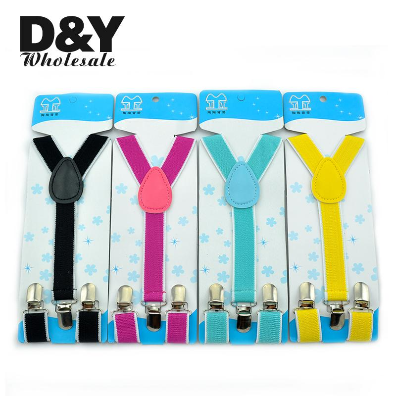 Kids/Children/Baby Unisex Clip-on Braces Elastic Slim Suspender In Girls 1inch/2.5cm Wide