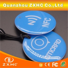 (10PCS) Ntag213 Blue Epoxy NFC Hanging Tags For Sony HTC And Other NFC Phones