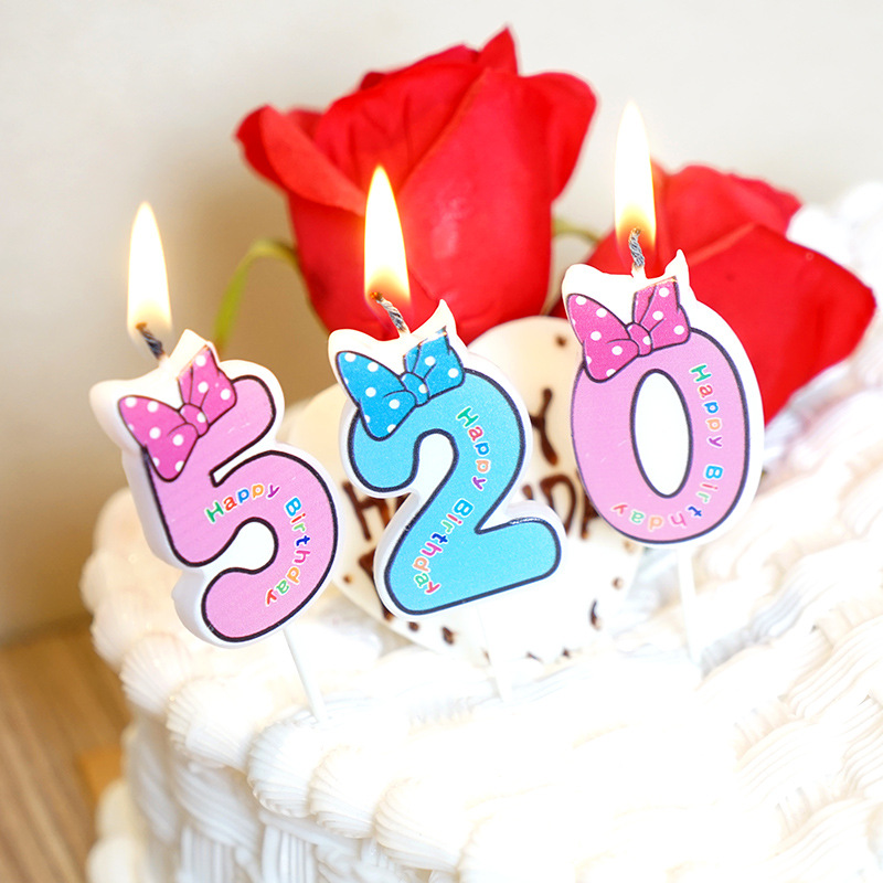 Birthday Number Candles Cartoon Mouse Happy Birthday Candle Cake Cupcake Topper Party Decoration Supply Anniversaire Minnie