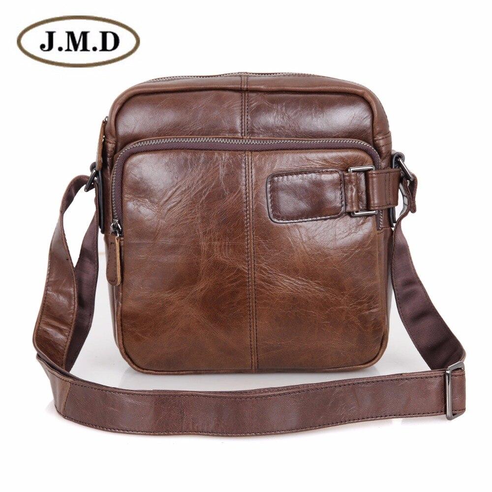 100% Genuine Vintage Leather Sling Bags For Men Messenger Shoulder Bag Purse 6012C simline vintage 100