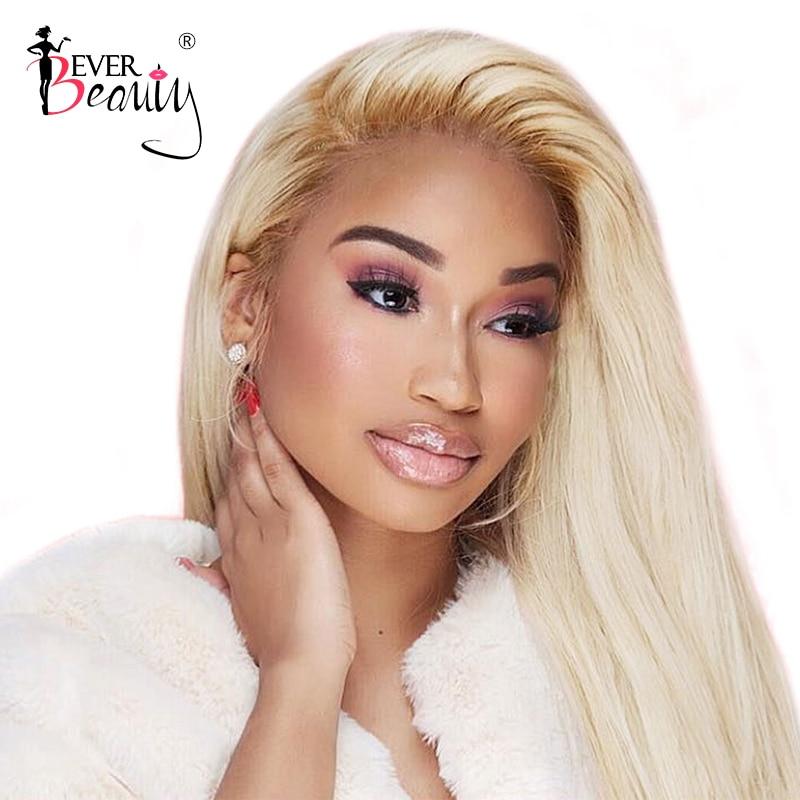 613 Miel Blonde Avant de Lacet cheveux humains Perruques Pré Plumées 150% Densité Droite Brésilienne Sans Colle perruque en dentelle Pleine Remy Jamais la Beauté
