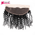 Mongolian Kinky Curly Hair Lace Frontal Closure 7A 13*4 Ear to Ear Full Lace Frontal Closure Afro Kinky Curly Virgin Human Hair