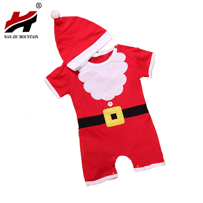 1Pcs/Lot Christmas Gift Hot Baby Rompers Santa Claus Clothes Children Romper Newborn Boys&Girls Rompers For Kids christmas gift 2016 hot baby jumpsuit santa claus clothes kids overalls newborn boys girls romper children costume