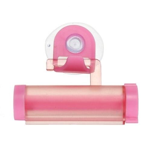 Squeezer Distributeur de Pate Dentifrice rouleaux PVC Rose