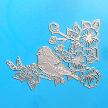 YLCD284 Bird Flower Metal Cutting Dies For Scrapbooking Stencils DIY Album Cards Decoration Embossing Folder Die Cuts Tools New(China)