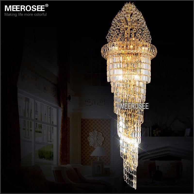 Lang krystal lysekrone Lysarmatur Klassisk gylden krom Hotel Crystal - Indendørs belysning - Foto 2