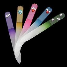 1 piece Multiple styles diamond  glass nail file tools New Fashion hot sale Article Nail File