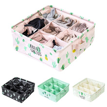 9 Grids Cactus Print Storage Box Cotton Linen Clothing Storage Sundries basket Home Organizer zebra print organizer box