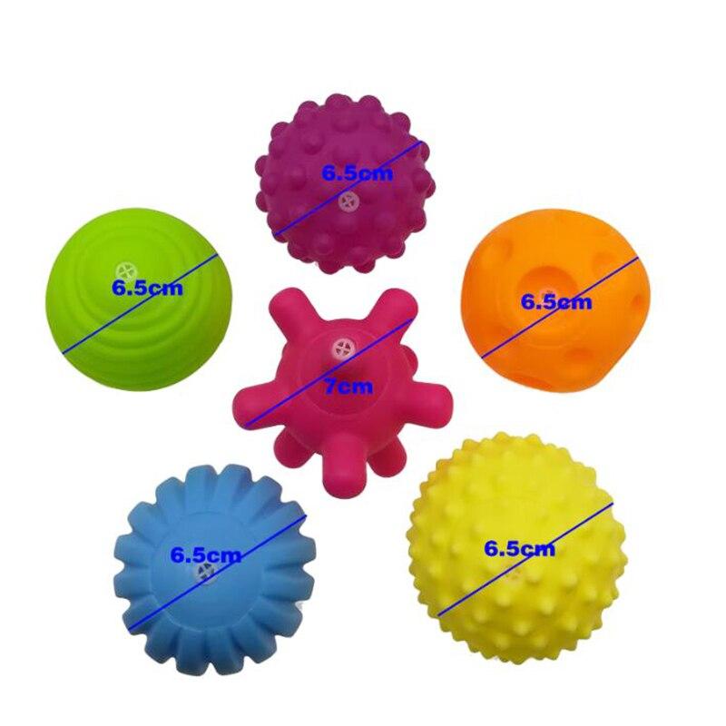 6 шт./компл. детские игрушки мяч набор развивают тактильные ощущения игрушка сенсорный игрушки, ручной мяч детские тренировочный мяч с массажным эффектом; мягкая мяч LA894335 3