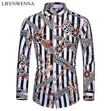 Повседневная мужская рубашка, осень, Новое поступление, индивидуальная печать, длинный рукав, рубашки, мужская мода, большой размер, деловая, Офисная рубашка, 6XL, 7XL