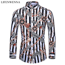 Casuals Shirt Men Autumn New Arrival Personality Printing Long Sleeve
