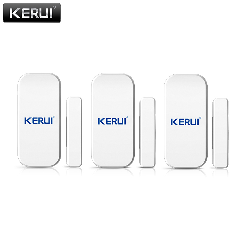KERUI 3pcs/lots 433mhz Wireless Door/window Sensor For GSM PSTN Home Alarm System Home Security Voice Burglar Smart Alarm System wireless door magnetic sensor detector for touch keypad panel gsm pstn home security burglar voice alarm system