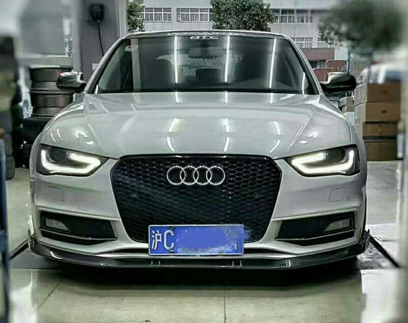 2013 A4 B9 S Line S4 Front Splitter Abt Style Carbon