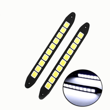 2Pcs COB LED Daytime Running Lights Turnning Signal Light Bendable DRL Driving Lamp Waterproof Day Lights цена