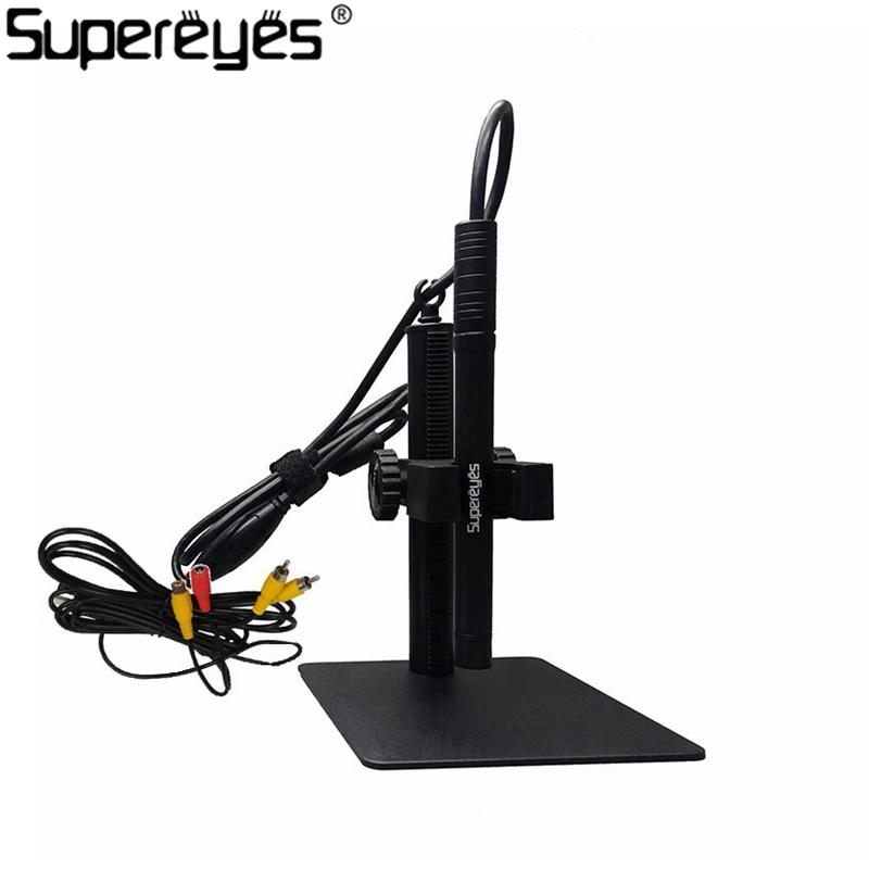 Supereyes B003A Digital Microscope 200X 0.3MP AV Video Output Format PCB Skin Check USB Microscope Magnifier Manual Focus