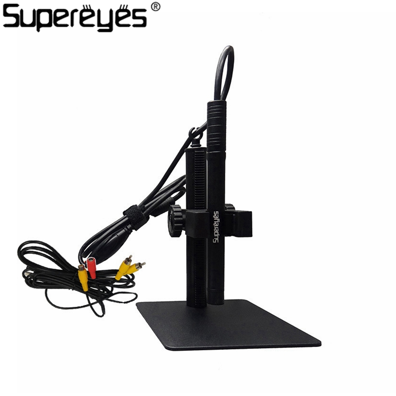 Supereyes B003A Digital Microscope 200X 0.3MP AV Video Output Format PCB Skin Check USB Microscope Magnifier Manual Focus цена