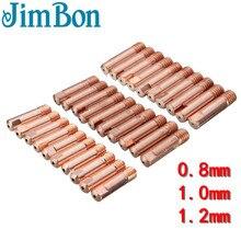 JimBon 10 шт. MB-15AK M6* 25 мм типа для сварки MIG/MAG сварочный фонарь Контактный наконечник газовой форсунке, 0,8/1,0/1,2 мм