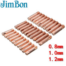 JimBon 10pcs MB-15AK M6 * 25mm MIG/MAG Lastoorts Contact Tip Gaspijp 0.8/1.0 /1.2mm(China)