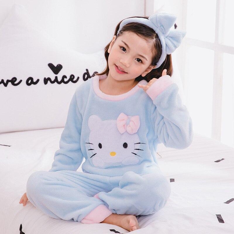 2019 New Warm Winter Kids   Pajamas     Sets   Children Sleepwear   Sets   962
