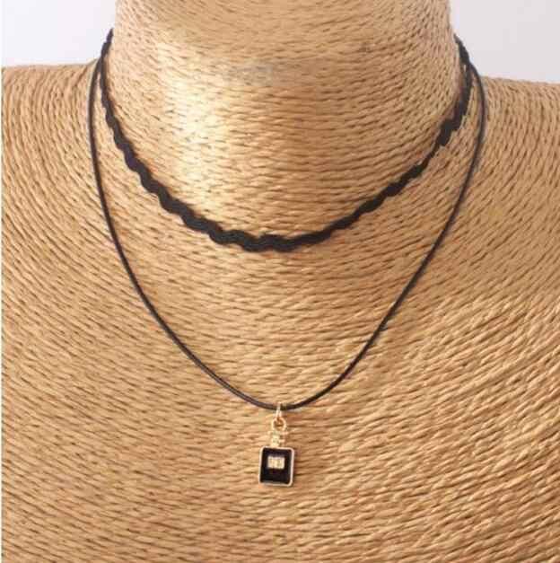 Xl 0484 2019 многослойное веревочное ожерелье Геометрическая волна подвеска в виде бутылочки парфюма ожерелье женское ожерелье с подвеской модные украшения