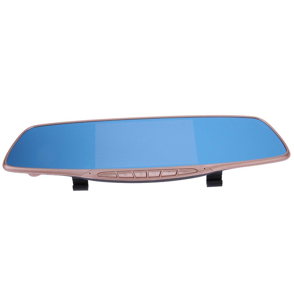 5 Inch Full HD 1080P Dash Cam Car Dvr Camera Mirror With Dual Lens Video Recorder G-sensor Rearview Cameras ME3L 1080p full hd car dvr lcd hdmi camera video recorder dash cam g sensor