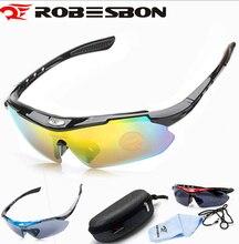 ROBESBON Polarized Sports Unisex Sunglasses Road Cycling Glasses Mountain Bike Bicycle Riding Protection Goggles Eyewear