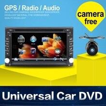 Автоэлектроника 2 din Dvd-плеер Автомобиля GPS Навигации 6.2 inch 2din универсальный Автомобильный Радио В Тире Bluetooth Стерео SWC Бесплатную Карту