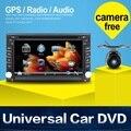 Eletrônica do carro 2 din DVD Player Do Carro de Navegação GPS de 6.2 polegadas 2din Rádio Do Carro Universal Em Traço Estéreo Bluetooth Vídeo SWC Mapa Livre