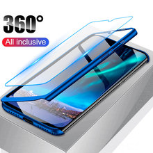 Luxury 360 Full Body Cover Phone Case For Huawei Mate 20 Lite 20X 10 Pro Case For Huawei Mate 9 Pro 8 shockproof Case With Glass(China)