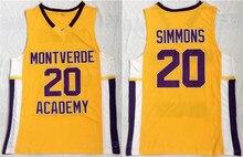 f7371344f Ediwallen Men New 20 Ben Simmons Jersey High School Basketball Montverde  Academy Eagles Jerseys All Stitched Team Color Yellow