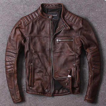 Free shipping.Plus size,Brand coat men vintage cowhide Jackets,men\'s genuine Leather casual jacket.homme Fitness sales - DISCOUNT ITEM  10 OFF Men\'s Clothing