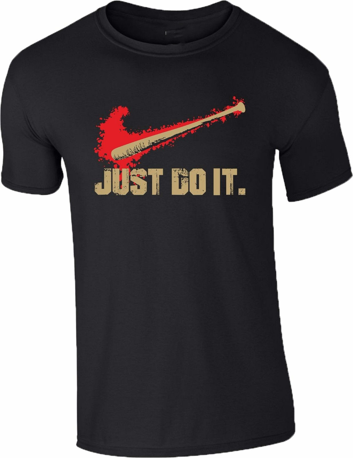 Gildan Walking Dead серии футболка Бейсбол bat Just Do It Мужская дамы подарков Топ