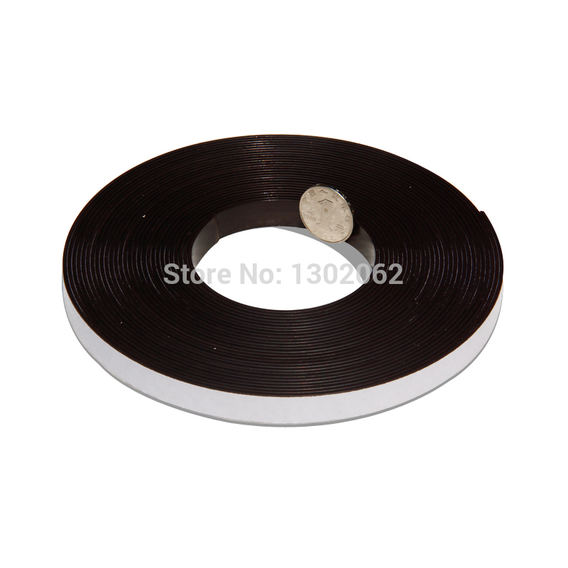 2 Meters Self Adhesive Flexible Magnetic Strip Magnet Tape Width12.7x1.5mm Ad / Teaching Rubber Magnet free shipping 2 meters self adhesive flexible magnetic strip magnet tape width20x1 5mm ad teaching rubber magnet