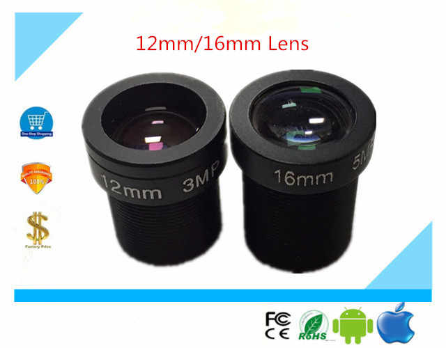 CCTV M12 Lensa 12 Mm/16 Mm 3.0MP Full HD untuk IP Kamera AHD Security
