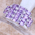 Impressive Purple Amethyst 925 Sterling Silver  Women's  Ring Size 6 / 7 / 8 / 9  R1128