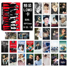 30 Pcs/pack Fashion Kpop IKON Mini Album Photo Cards HD Photocards DIY Lomo Cards Postcard Stationery Fans Collection Gift(China)