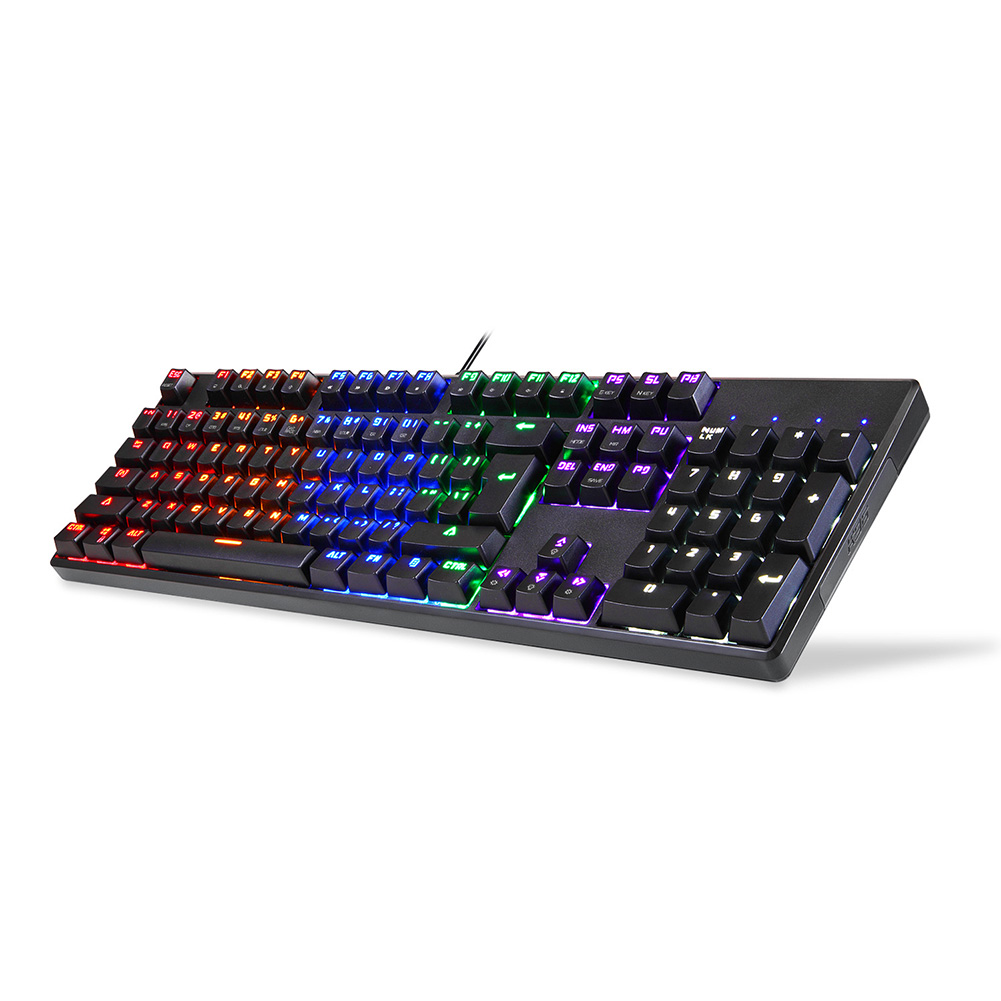 Image 5 - USB Wired Gaming Mechanical Keyboard RGB Backlight 104 Keys Anti ghosting Keys NK Shopping-in Keyboards from Computer & Office