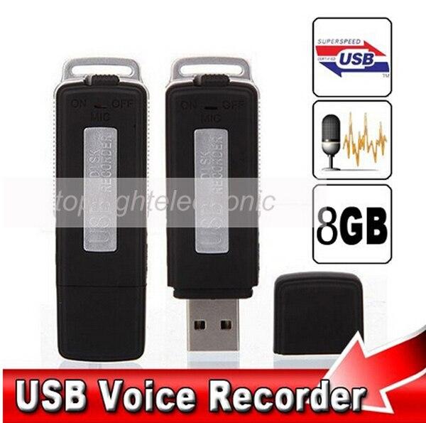 New Mini 8GB USB Driver Digital Audio Voice Recorder U Flash Disk dictaphone