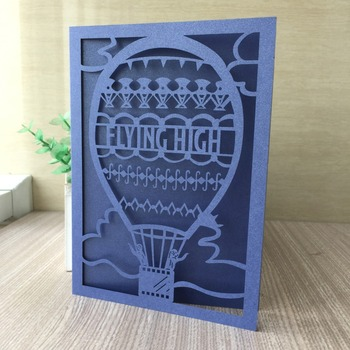 35pcs/lot Luxury Blue Life Improvment Pearl Paper Card Wedding Invitation Birthday Party Bless Greeting Graduation Card