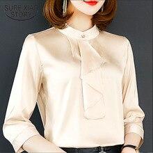 Women tops plus size women shirts blouse ladies harajuku Three Quarter Button Solid white 2885 50
