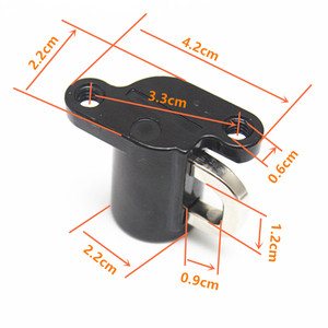 Image 5 - 1 Uds cerradura para casco de motocicleta Universal Bloqueo de casco gancho colgante gancho de bloqueo de casco con 2 Juego de llaves negro