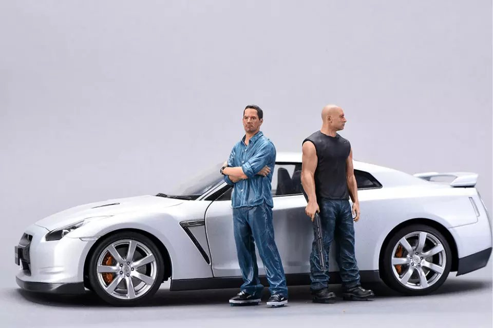 1//18 FF Fast /& Furious Resin Figure Brian 1 piece for Auto Models