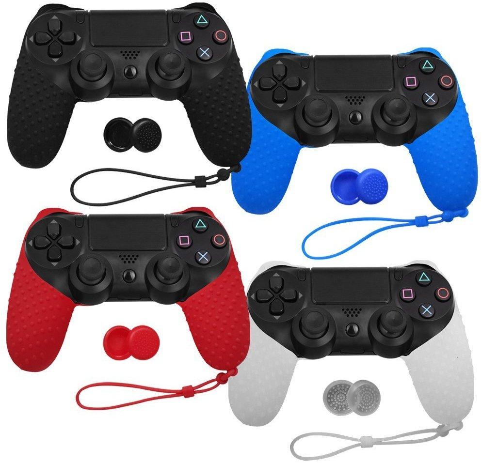 Silicone Analog Joystick Grip Caps Protective Skin Cover Case For Sony Playstation Dualshock 4 PS4 Slim Pro Controller Gamepad