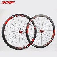 2017 Limited Promotion Bike Wheels Full Carbon Fiber Wheels Road Bike 40mm 700c Rim Front 20 Holes Rear 24 Wheelset Hot sale