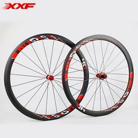 XXF Full Carbon Fiber Wheels Road Bike 40mm 700c Rim Carbon Wheels Front 20 Holes Rear