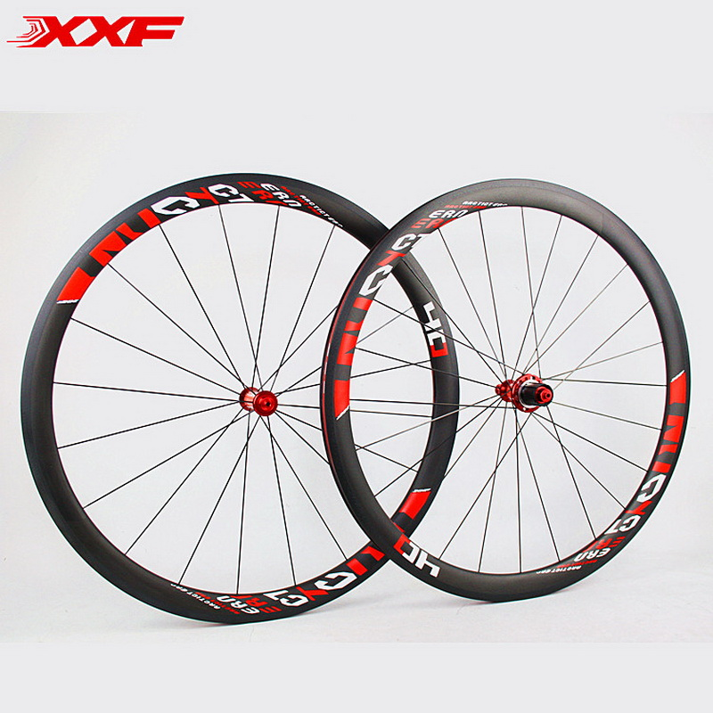 2018 Limited Promotion Bike Wheels Full Carbon Fiber Wheels Road Bike 40mm 700c Rim Front 20 Holes Rear 24 Wheelset Hot sale tubular fast wheel full carbon fiber bike rim 700c 60mm depth 20 5mm 700c rim set front and rear