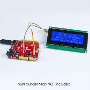 Image 3 - SunFounder IIC/I2C/TWI 2004/20x4 Modulo LCD Shield per Arduino Uno/Mega2560 elettronica FAI DA TE