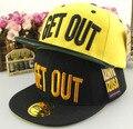 Basquete chegada saia de verão de algodão carta Punk Hip Hop Snapback chapéus para crianças