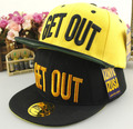 New Arrival Basketball Cap GET OUT Summer Fashion Punk Letter Cotton Hip Hop Dancer Snapback Casual Hats For Kids