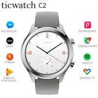 Оригинальный Ticwatch C2 умные часы с Wi Fi gps Google Pay Носите ОС Google Strava IP68 1,3 динамического сердечного ритма долгого ожидания часы Для мужчин